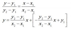 یافتن معادله خط گذرنده از دو نقطه