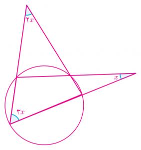 تمرینی از زاویه و دایره از ریاضی تکمیلی هشتم